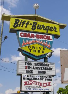 If you get to St Petersburg Fl visit Biff Burger on Friday nights for vintage cars or Wednesday nights for bike night. They have been here over 50 years!!!! Fun place...good food.