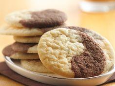 Chocolate Marble Cookies... uses betty crocker sugar cookie mix