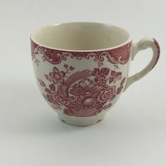 Vintage Red White Transfer Ware Transferware by FindingYesterday