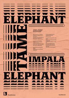 Playlist-posters // Tame Impala - Elephant | Playlist Posters