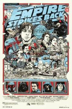 """The Star Wars Trilogy (Alamo Drafthouse, R-2010). Limited Edition Screen Print Posters (3) (24"""" X 36"""").  This very unique lot features Mondo's final limited edition run of Star Wars screen print posters. Artist Tyler Stout was commissioned to create a poster for each film that captured the essence of George Lucas' epic original trilogy. From monumental battles to pivotal character moments, the force of the films can be felt in all three items."""