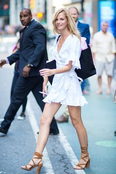 NEW YORK, NY - AUGUST 30:  Model Nadine Leopold is seen going to fittings for the 2017 Victoria's Secret Fashion Show in Midtown on August 30, 2017 in New York City.  (Photo by Gotham/GC Images) via @AOL_Lifestyle Read more: https://www.aol.com/article/lifestyle/2017/08/29/victorias-secret-models-fittings/23189369/?a_dgi=aolshare_pinterest#fullscreen