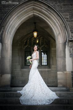 Beautiful Inbal Dror wedding dress for a Toronto bride at University of…