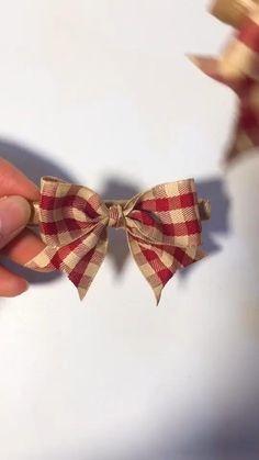 Diy Crafts Hacks, Diy Crafts For Gifts, Diy Home Crafts, Simple Crafts, Kids Crafts, Craft Projects, Craft Ideas, Diy Ribbon, Ribbon Bows