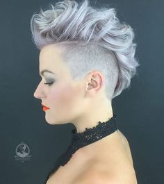 Mohawk Hairstyle for Short Hair - Shaved Haircut                                                                                                                                                                                 More