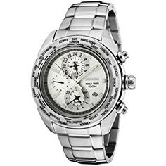 Seiko Bracelet World Time White Dial Men's watch #SPL029P1  PRICE*  US$122.38