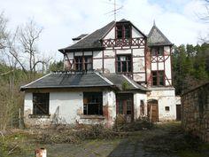 Abandoned inn near Bollberg, Thuringia, Germany