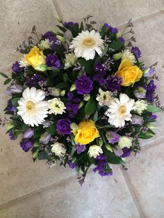 Loose posy funeral tribute