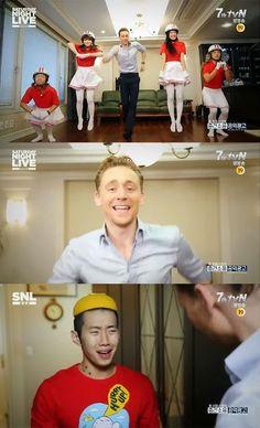 19/10/2013 Tom Hiddleston performs Crayon Pop dance & makes Jay Park cry on 'SNL Korea' http://www.allkpop.com/article/2013/10/tom-hiddleston-performs-crayon-pop-dance-makes-jay-park-cry-on-snl-korea