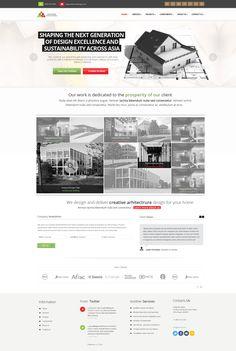 Architectural Company Web Design by *vasiligfx on deviantART  #webdesign