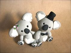 My favorite animal :) and So cute!  koala love Wedding Cake Topper by derekwoolever on Etsy, $70.00