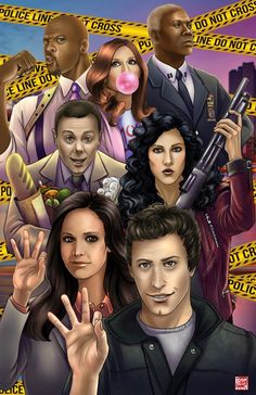 Brooklyn Nine-Nine by TyrineCarver on DeviantArt Brooklyn Nine Nine Funny, Brooklyn 9 9, Brookly Nine Nine, Police Tv Shows, Escape The Night, Chelsea Peretti, Charles Boyle, Jake Peralta, Terry Crews
