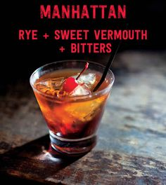 17 Three-Ingredient Cocktails You Should Know How To Make: Manhattan