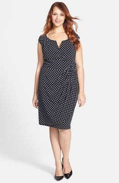 Does NOT have to be a shapeless BAG!  Adrianna Papell Print Sheath Dress (Plus Size) | Nordstrom