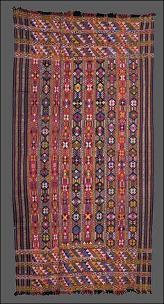 Kira of Raw Silk and Cotton with Geometric Pattern  Bhutanese, Kurtö region, ca.1900