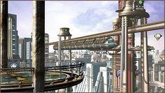 In progress: Yet-to-be-named Retrofuturistic City Scene ...