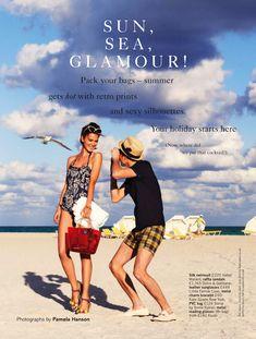 Sun sea glamour Rudi Ovchinnikova and Wes by Pamela Hanson for Glamour UK May 2013 3