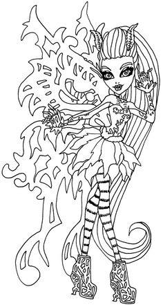 Monster High Coloring Pages Bonita Femur