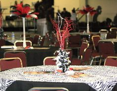 quinceanera table decorations .