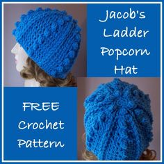 Jacobs Ladder Popcorn Hat ~ FREE Crochet Pattern