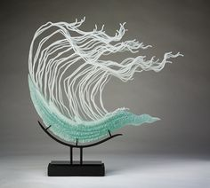 K. William LeQuier's flowing glass sculptures are inspired by the ocean and undersea creatures.