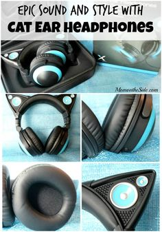 Epic Sound and Style with Cat Ear Headphones - great graduation gift! ad
