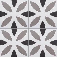 Carreaux de ciment - Les motifs - Carreau NOA 10.01.27 - Couleurs & Matières
