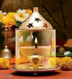Festive Diyas & Candles Traditional Brass and Glass Diya Material: Brass & Glass Size: 4.8 in Description: It Has 1 Piece Of Diya Sizes Available: Free Size   Catalog Rating: ★4.1 (12205)  Catalog Name: Traditional Brass and Glass Diyas Vol 1 CatalogID_153470 C128-SC1604 Code: 712-1219311-144