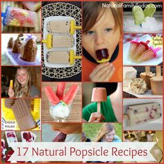 17 Natural Popsicle Recipes #realfood #popsicle