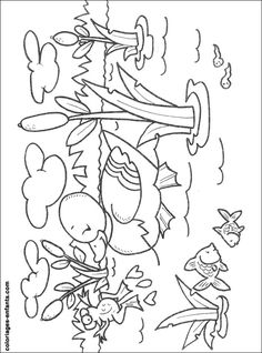 coloriages-canards Bird Coloring Pages, Coloring Pages For Kids, Coloring Books, Free Preschool, Preschool Crafts, Drawing For Kids, Art For Kids, Baby Farm Animals, Animal Templates