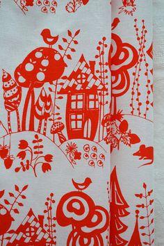 SKAZKA hand printed fabric quarter by BlueberryAsh on Etsy, $12.00