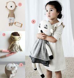 nr. 1: Gevonden op morka.biz  nr. 2: Original Mend Doll handmade custom dolls: etsy.com  nr. 3: belljarsf.com   nr. 4: Gevonden op m.blog.naver.com: lucky boy sunday