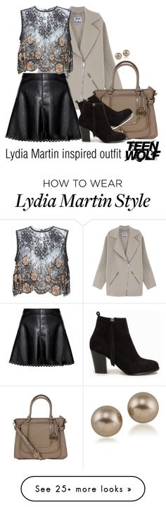 """Lydia Martin inspired outfit/TW"" by tvdsarahmichele on Polyvore featuring Acne Studios, Alessandra Rich, Nly Shoes and Carolee"