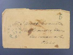 Massillon Ohio OH Cummins & Co Early 1832 Stampless Cover & Letter