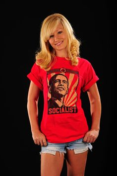 TShirt Anti Obama the Socialist Red Tee by LIBERTYSHIRTMARKET, $6.99 on Etsy!