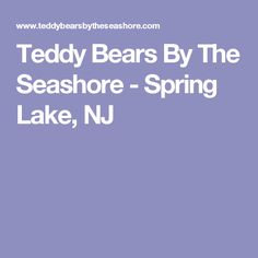 Teddy Bears By The Seashore - Spring Lake, NJ