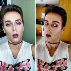 Red Silver Halo Eye ❤  .  .  . .  #haloeyes #redeyeshadow #modernrenaissance #anastasiabeverlyhills #jujulipstick #bareminerals #malemua #gayboy #gay #becca #beccahighlighter #shimmereyeshadow #betterthansexmascara   #dragqueen #drag #boyglam Halo Eye Makeup, Becca Highlighter, Shimmer Eyeshadow, Bareminerals, Anastasia Beverly Hills, Gay, Lipstick, Instagram Posts, Silver