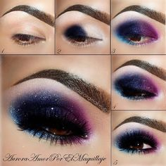 Galaxy eye makeup Visit here ......... https://www.youtube.com/watch?v=P0-XIMJ0NIo #makeup #makeupartist #makeupbrushes #eye