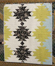 Modern Aztec Quilt by BlueElephantStitch on Etsy