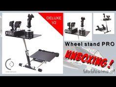 Wheel stand Pro V2 for Flight Simulators: Unboxing (PL) Home cockpit - YouTube