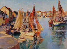 Pacheco Altamirano Canvas Art, Painting, Boats, Ship Paintings, Landscape Paintings, Bicycle Kick, Art History, Painting & Drawing, Mosaics