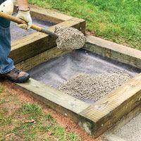 timber +  brick steps