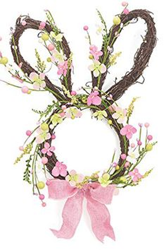 Burton & Burton Easter Bunny Shaped Spring Wreath - GoodHousekeeping.com