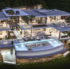 Dream Home Design, Modern House Design, Marbella Villas, Marbella Spain, Mansion Designs, Dream Mansion, Modern Mansion, Luxury Homes Dream Houses, Dream House Exterior