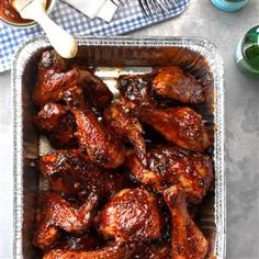 Barbecued Picnic Chicken Recipe from Taste of Home