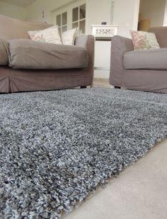Tapigo Shaggy Trend Grijs, hoogpolig tapijt / vloerkleed   Woonkamer ...