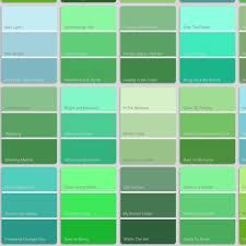 Green And Blue Shades Of Names Color Diffe