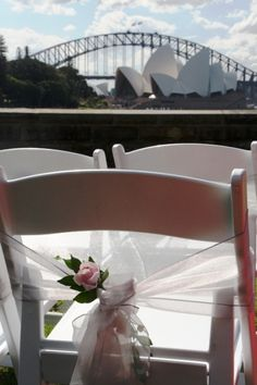 Perfect way to add that extra styling touch to your ceremony chairs. Types Of Wedding Cakes, Wedding Ceremonies, Event Styling, Sash, How To Memorize Things, Chairs, Wedding Ideas, Touch, Building