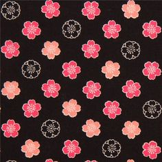 http://www.kawaiifabric.com/en/p10997-black-fabric-cute-hot-pink-peach-black-flower-from-Japan.html