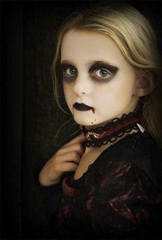 Girl Vampire Face Painting for Halloween